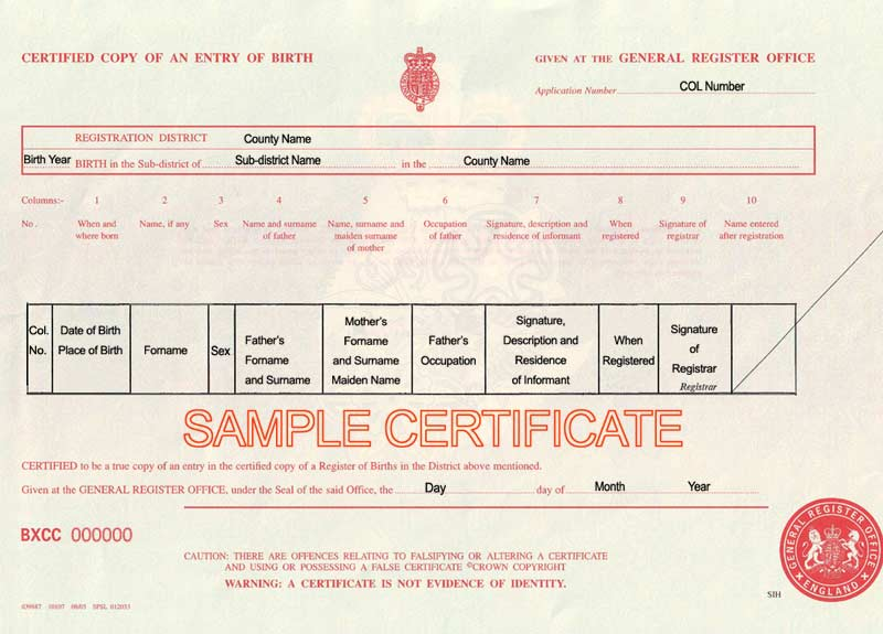 Certificate Translation Birth Marriage Death Qualifications Etc